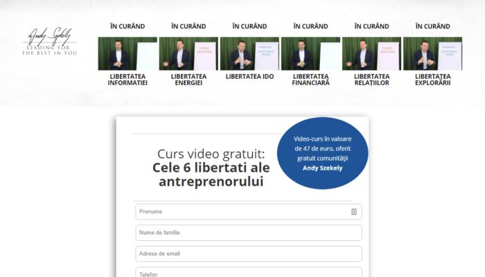 Curs video gratuit: Cele 6 libertati ale antreprenorului